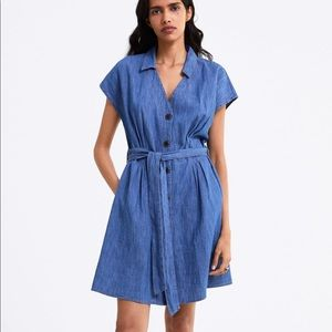 NWT's Zara Belted Jean Dress with pockets Size M